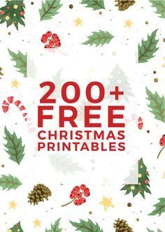 A massive collection of over 200 pieces of free Christmas printables including wall art, wrapping paper, advent calendars, treat toppers, kids activities and more!