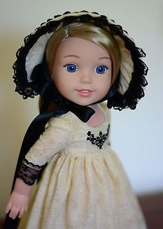 """""""Regency Holidays"""" Dress, Outfit, Clothes for 14.5"""" American Girl Wellie Wishers"""