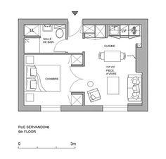 Grundriss der 1 Zimmer Wohnung … Brentano Small…