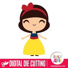 Cute Princess Snow White - Get creative with this die cutting file of a cute princess snow white. Digital die cutting files are designed specifically with cutting machines in mind. Use them with programs such as your Silhouette, Cricut (SCAL/MTC), Pazzles, Klick-n-Kut, Wishblade or any cutting machine that can use the following file formats: SVG, PDF, and DXF.Digital die cutting files are designed specifically with cutting machines in mind. Use them with programs such as your Silhouette…