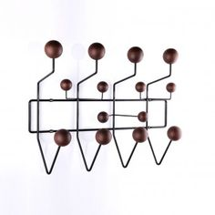 Mid Century Charles and Ray E. Style Hang It All Coat Rack Black and Walnut