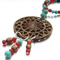 Tribal medallion necklace £25.00