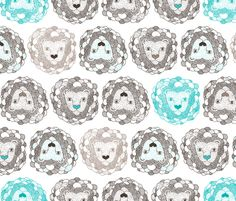 G's curtains? Cute Jungle Lion love fabric by littlesmilemakers on Spoonflower - custom fabric