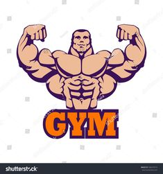 Eating Before and After Exercise Bodybuilding Logo, Bodybuilding Motivation, Gym Photos, Cool Photos, Dojo, Mascot Design, Logo Design, Huge Biceps, Gym Interior