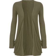 Destiny Long Sleeve Open Cardigan ($11) ❤ liked on Polyvore featuring tops, cardigans, khaki, women's plus size cardigans, brown open front cardigan, open cardigan, long sleeve tops and boyfriend cardigan