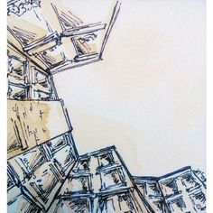 Architectual Study 01 // coffee and ink on 6x6 watercolor paper tile  LINK IN BIO  #art #instaartist #instaart #InstagramBHAM #weartbham #architecture #watercolor #coffee #buildings #pen #ink #sketch #draw #talentedpeopleinc #creativegallery #featuremyart #worldofartists #proartists #nofilter @talentedpeopleinc @creativitygallery @worldofartists @proartists @daily.artz @featured.art #birmingham by lyleannaart