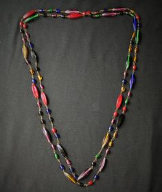 Vintage Boho Hippie Multi Color Glass Bead by HeidisTreasureChest
