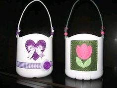 DIY Cute Plastic Bottle Baskets