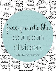 image about Coupon Binder Printable known as Coupon Binder