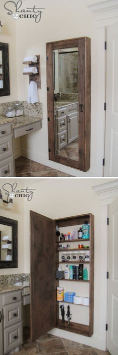 Bathroom Mirror Storage by brendaq