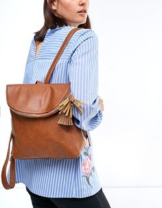 Mini backpack with tassel trim - Bags   Stradivarius United Kingdom Winter  Sale, Mini Backpack c38e4be63d