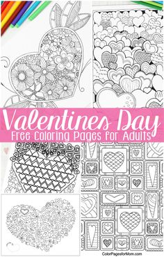 Free Valentines Day Coloring Pages for Adults - Easy Peasy and Fun