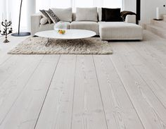 If you want to liven up your home for spring, wood flooring can transform each room and update tired decor in a flash. Wood floors add instant panache to living rooms, update old fashioned bathrooms, boring bedrooms and hapless hallways. Rustic Wood Floors, White Wood Floors, White Flooring, Hardwood Floors, Grey Hardwood, Plank Flooring, Light Grey Wood Floors, Grey Wooden Floor, Light Wooden Floor
