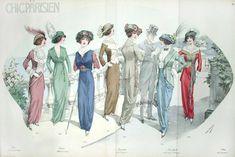 Chic Parisien Mode Prints 1913