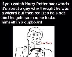 Harry Potter backwards