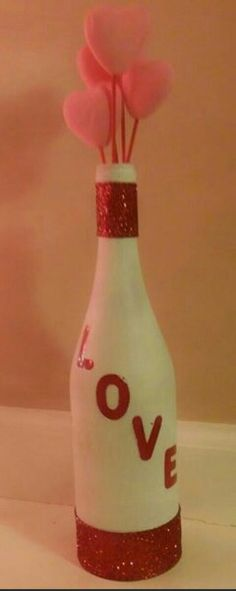 Wine bottle Valentine