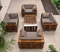 Pallet Furniture Table ideas for Home and Work space