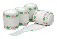 E Couture Argyle Pro-Lastic Fashion Polo Bandages - White W/ Navy And Light Blue by JPC. $20.57