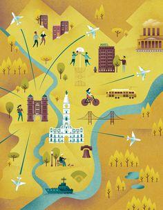 Philadelphia map -  Melissa McFeeters