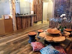 The River Yoga Studio used our Historic Plank Reclaimed Flooring installed by T Flooring in Denver, CO