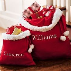 Personalized Santa Bags | Pottery Barn