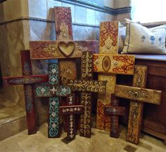 Santa Fe Cross Collection (also like the pillows on the bench...)