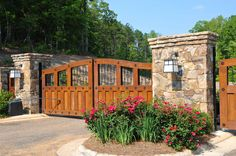 Custom Wood/Iron Gate. Beautiful features.