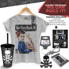 Super Combo Feminino 89 FM A Rádio Rock We Can Rock It! #bandUPStore #LojaRadioRock, #89FM #WeCanRockIt