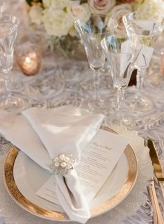 Silver and Pearl Napkin Ring | photography by http://carrie-patterson.squarespace.com/