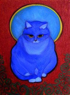 Deep Kitty, oil on canvas, ivan Chan