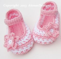 (4) Name: 'Crocheting : Crochet Baby Shoes - Jack & Jackie