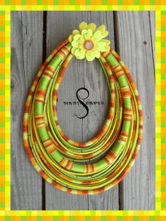 Queen of Summer Deluxe - yarn-wrapped necklace / tribal / hippie / bohemian / ethnic / thread / rope