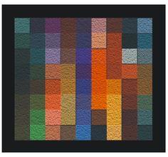 """""""colores 8 por 9"""" construccion de cubos de madera de 10cm sobre marco de madera 140cm por 120 cm."""""""
