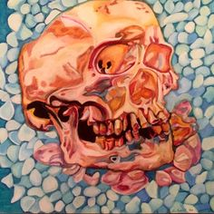 Completely finished. #art #oilpastel #drawing #skull