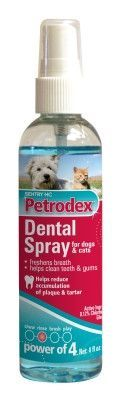 Sentry Petrodex Veterinary Strength Dog & Cat Dental Spray, 4oz