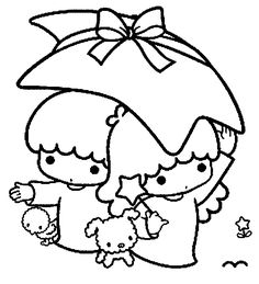 Little Twin Stars Coloring Pages Little twin stars | For my love of ...