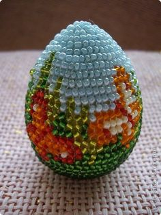 Пасха Бисероплетение Схема для Пасхального яйца из галереи Бисер фото 1