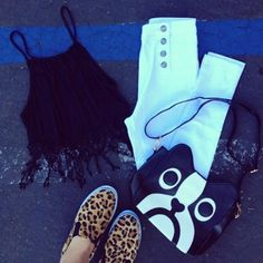 Cute outfit with animals tied in :)