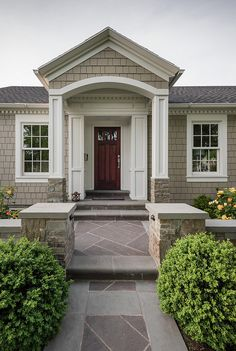 Revere Pewter HC 172 by Benjamin Moore Exterior siding paint color. Revere Pewter HC 172 by Benjamin Moore.…