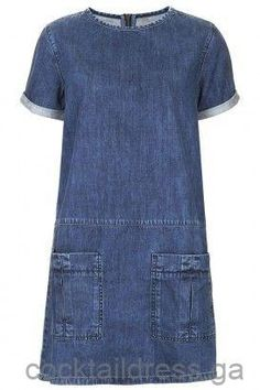 MOTO Utility Denim T-Shirt Dress - What a great dress, suitable for many ages! (idea: use new denim to create dress.upcycle denim jeans for pockets and trim around sleeve and neckline) Alexa Chung, Jeans Dress, Shirt Dress, Denim Dresses, Denim T Shirt, Tee Shirt, Mode Jeans, Denim Ideas, Denim Outfits