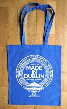 Whether you're from Artane or Whitehall or anywhere in-between this is the tote bag for Dubliners. It's also useful if you find yourself out doing the messages, say for a ham hock or a litre of Tesco vodka and you forget where you're from... well, you can just point at your town name on the bag and a helpful passer by will assist you on the road home.   MADE IN DUBLIN
