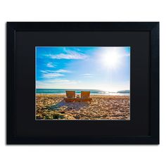 Florida Beach Chair by Preston Framed Photographic Print