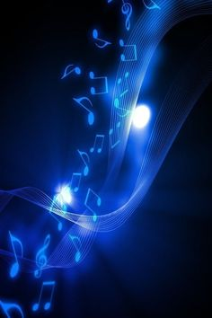 Blue music wallpaper