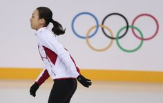 Japan's Asada Mao skates at the figure stating practice rink ahead of the 2014 Winter Olympics, Thursday, Feb. 6, 2014, in Sochi, Russia. (A...
