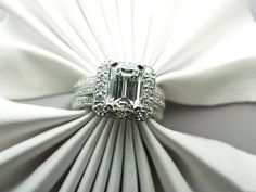 Emerald Cut Engagement Rings With Diamond Band 49 Emerald Cut Diamond Engagement Ring, Emerald Cut Diamonds, My Birthstone, Beautiful Engagement Rings, Diamond Are A Girls Best Friend, Diamond Bands, In This World, Wedding Rings, Wedding Bells