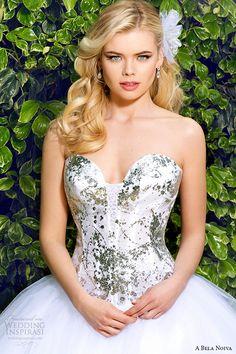 a bela novia 2015 wedding dress strapless sweetheart neckline corset bodice ball gown zoom #ballgown #weddingdress #ballgownweddingdress
