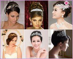Hvad kan erstatte sløret - optioner tilbehør og smykker til bruden hoved med fotos