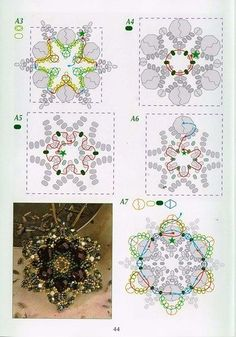 Scheme. Pendants from beads and beads | VIP jewelery