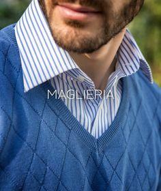 #maglieria in #purocotone e #trame lavorate nei toni del #blu #knitwear #purecotton #blue #diamondshape #pe2015 #ss2015