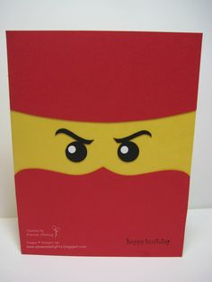 ninjago bday card...have to remember for Evan!!!  Danee's Stampin' Delights